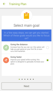 Select Main Goal