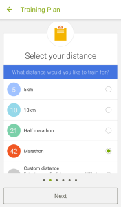 Select Your Distance