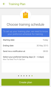 Choose Training Schedule